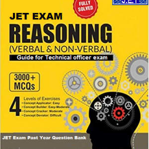 Reasoning Book (Verbal & Non-Verbal) Guide for JET Technical Officer Exam
