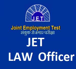 JET Law Officer Exam Syllabus