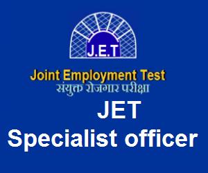 JET Specialist Officer syllabus