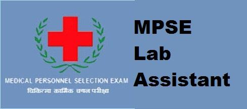 MPSE Lab Assistant Examination syllabus